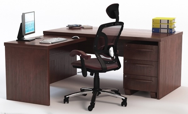 3d office desk chair props