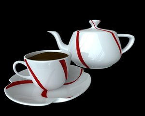 3d model realistic cup coffee