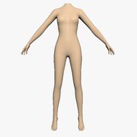 3ds max mannequin women female