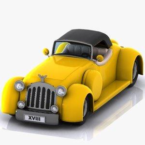 3d cartoon classic car