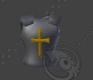 medieval body armor 3d 3ds