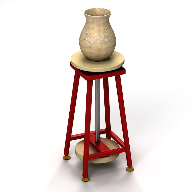 3d pottery table