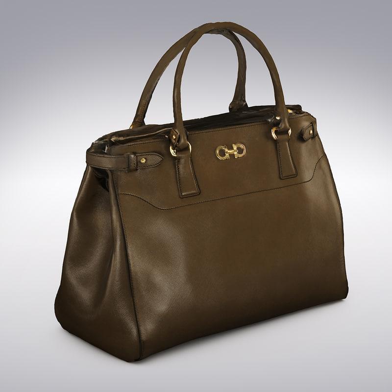luxury leather handbag scanning 3d model
