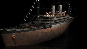 cruise ship 3d fbx