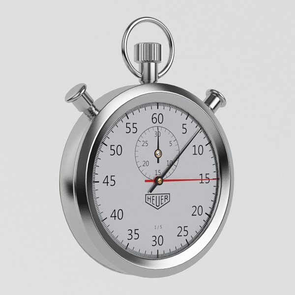 stopwatch watch 3d model