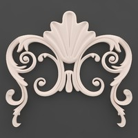 moulding ornament wall 3ds