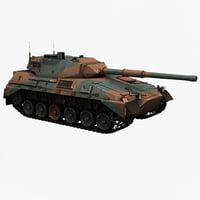 argentine medium tank tam 3d model