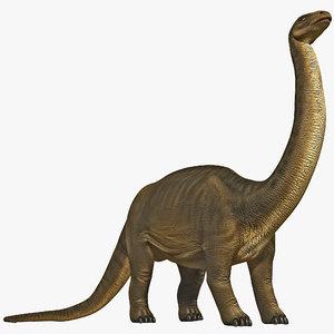 brontosaurus rigged 3d model