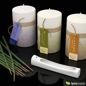3d pillar candles burner