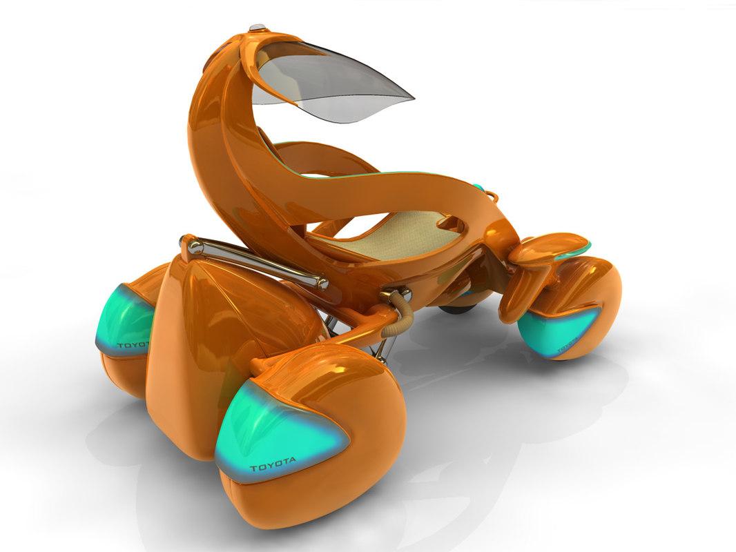 3d concept car toyota model