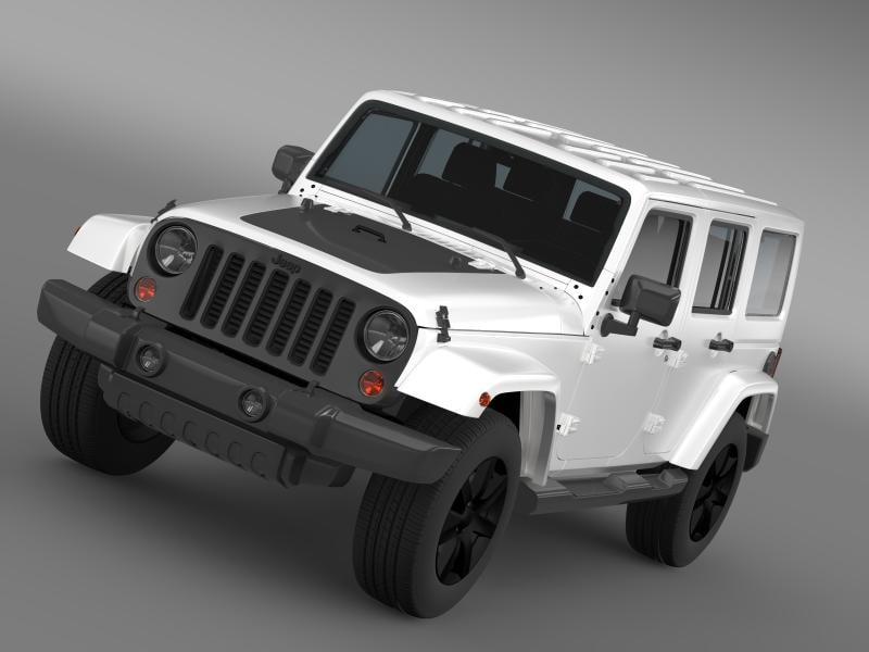jeep wrangler unlimited altitude 3d obj