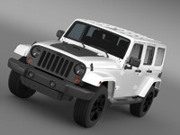jeep wrangler unlimited altitude 3d obj