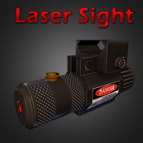 laser sight 3d model