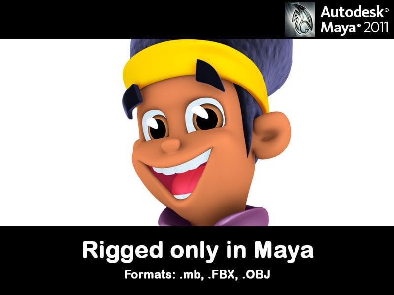 character man cartoon animation 3d model