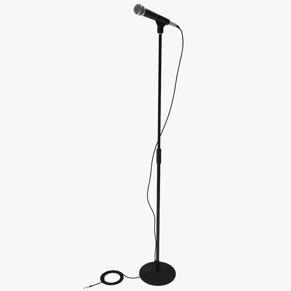 obj microphone stand