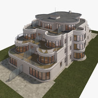 3d modern house 6