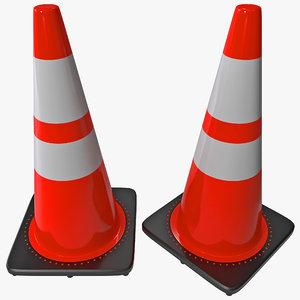 pvc orange glow cone 3d max