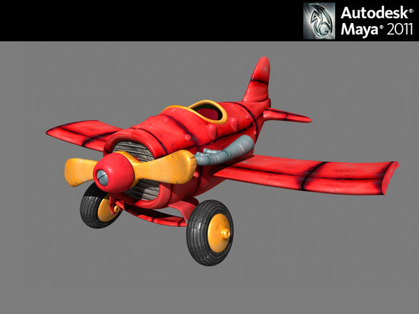 design plane 3d obj