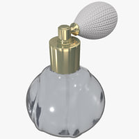 pump perfume bottle 3d 3ds