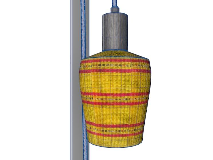 3d model woven light lamp hanging