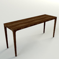 wood sideboard 3d model