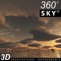 Sky 3D Sunset 018