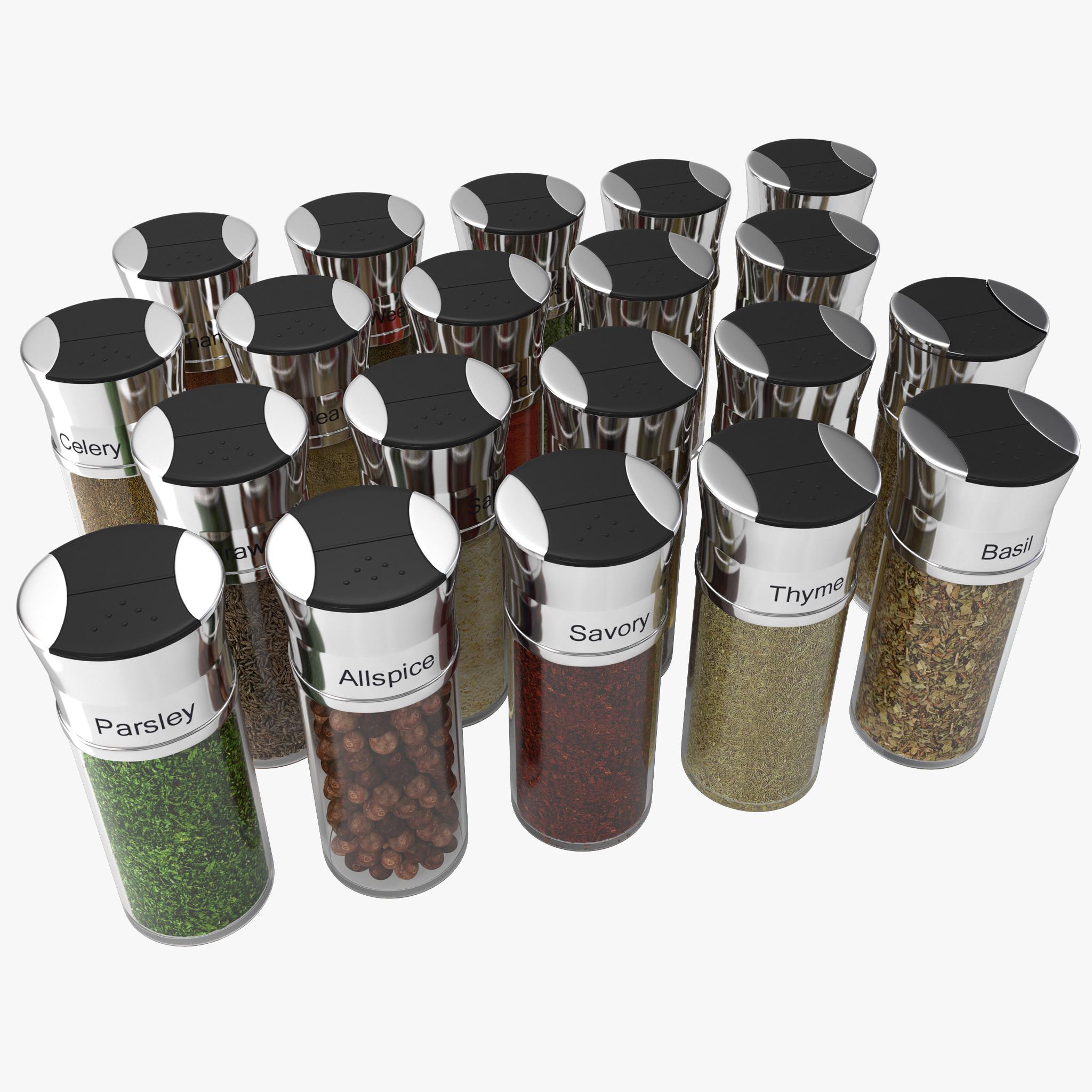 spice bottles set 3ds