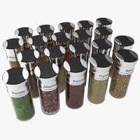 Spice Bottles Set