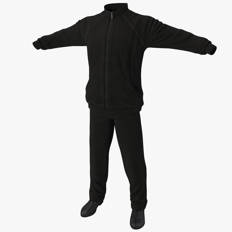 3d model of sport clothes 2