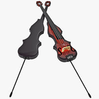stand electric bass 3d model