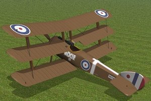 3d sopwith triplane fighter model