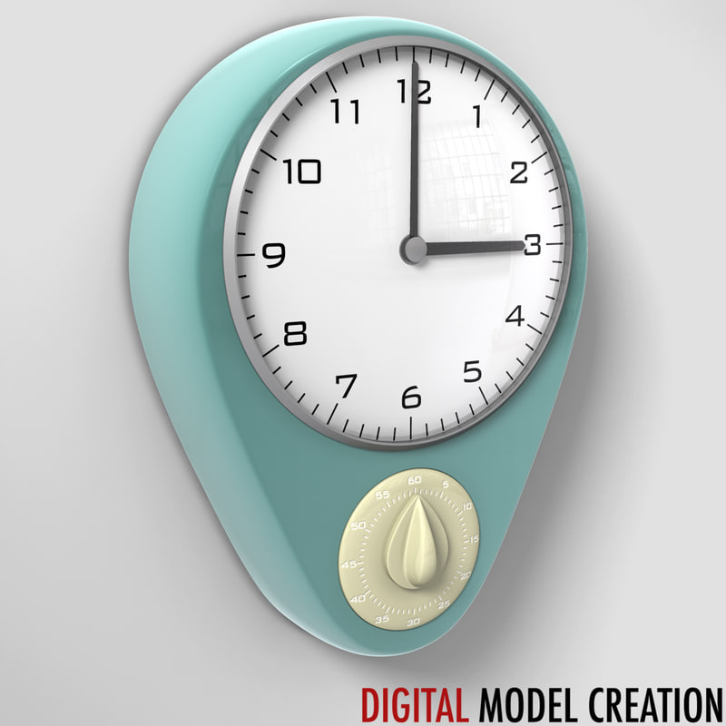 3d model kitchen wall clock