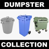 dumpster trashcan realistic 3d model
