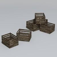 3d max wooden crate