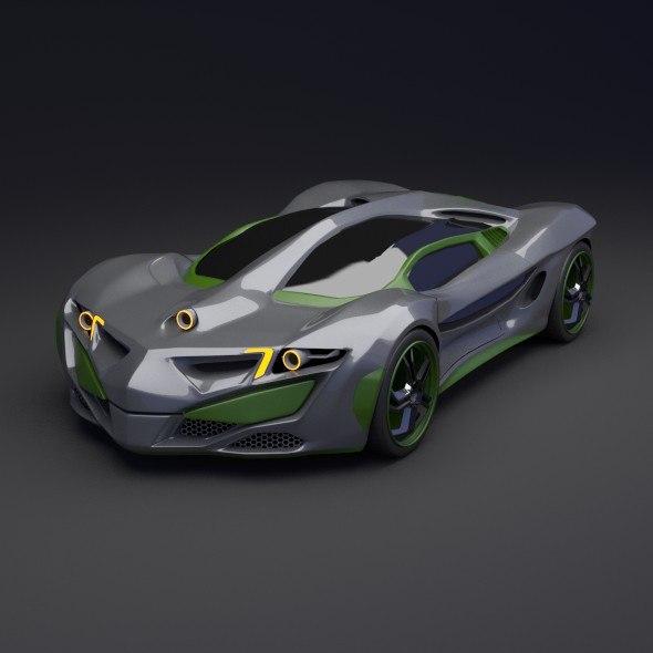 Rhinoster futuristic vehicle