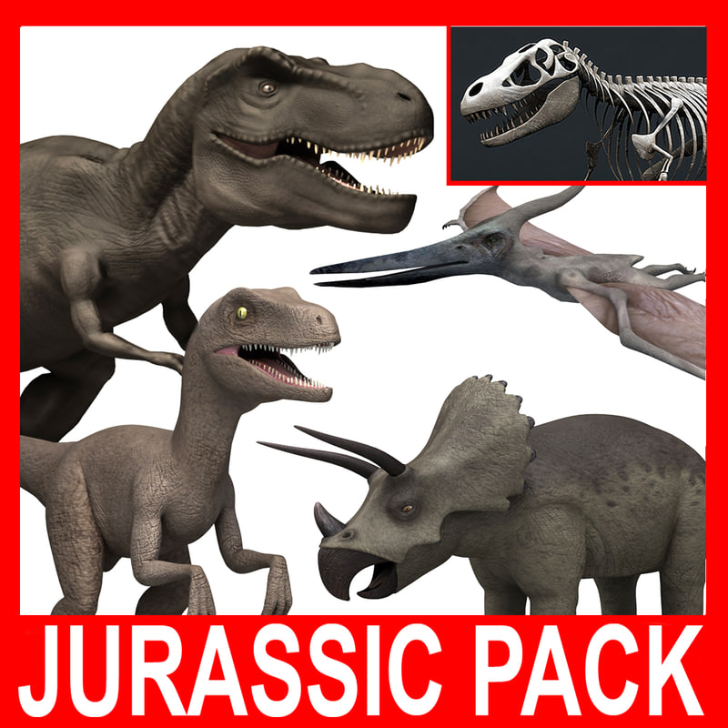 c4d rigged rex pteranodon