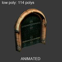 3d ready door polys model