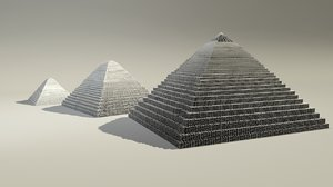 egyptian pyramids 3d model