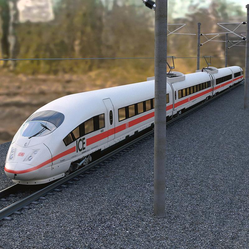 speed train ice3 3d model