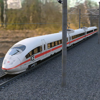 Speed Train Ice3 + Rails