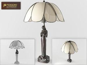 3dsmax possoni desk lamp