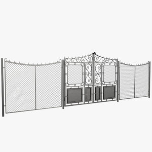 wrought iron gate fence 3d max