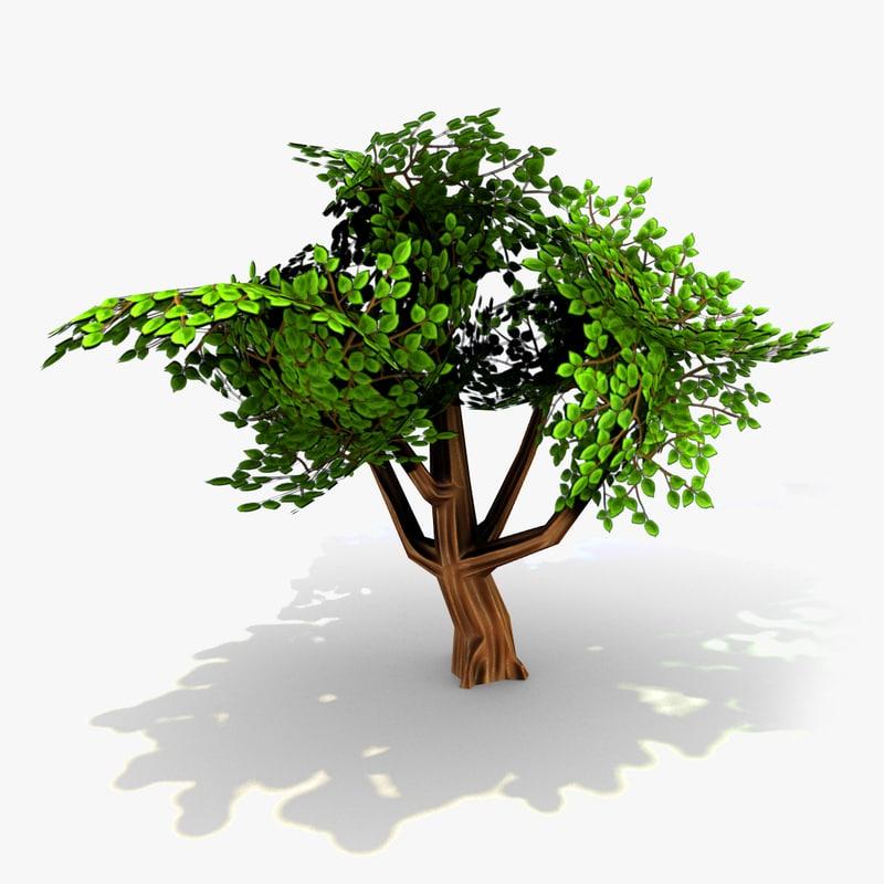 props tree 3d obj