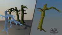 3d mossy tree