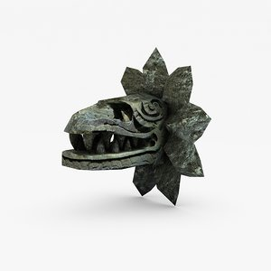 3d 3ds stone serpent head