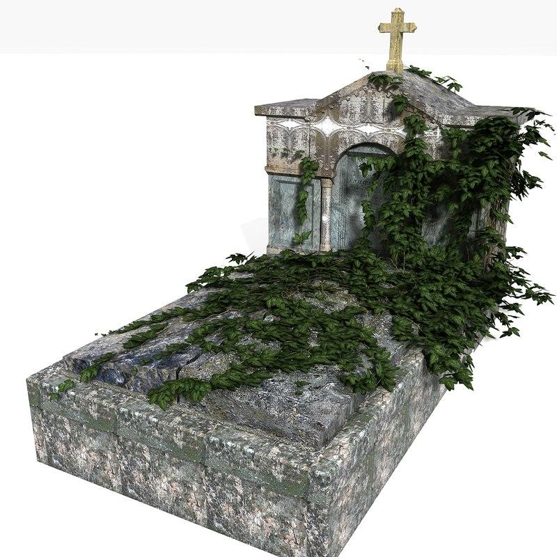 tomb graveyard grave 3d 3ds