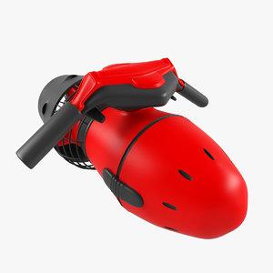 3d model motorcycle sea