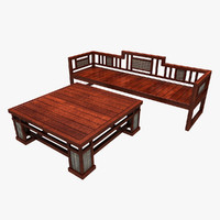 3ds max wooden bench table 1 wood
