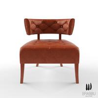 3d model brabbu armchair