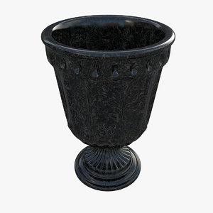 3d model urn marble